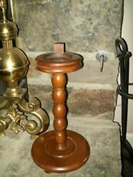 Vintage 1950's French Country Wooden Oak Smoke Standnr