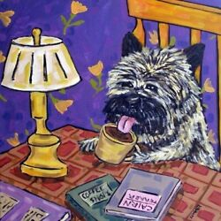 Cairn Terrier COFFEE SHOP dog art tile coaster gift