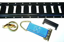 48pc E Track Tie Down Kit Enclosed Trailer Toy Hauler Cargo Van 5and039 E Track Rails