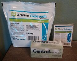 4 Tubes Advion Roach Gel And 60 Bait Stations And 20 Gentrol Point Source Igr Discs