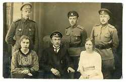 Russian Wwi Officers With St. George Order Military Schools Badges Photo