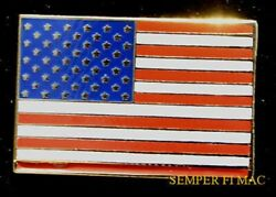 Us Flag Jewelry Lapel Hat Vest Pin Up Us Army Marines Navy Air Force Veteran