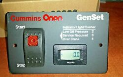 Onan Silent Remote Start Switch And Digital Hour Meter 12v Gas Lp Propane