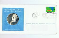 1973 United Nations Silver Medal And Fdc Stamp - Namibia