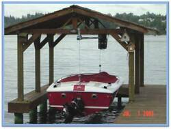 Lunmar Boat Lifts 3000 2 Point Pick Up Wood Mount