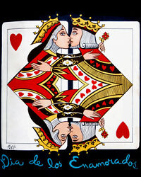 1599.decoration Poster.king Queen Card.valentines Daygamblers.poker Romantic