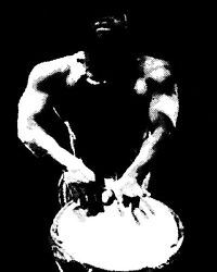 1762 Black And White Man And Drum Quality Poster.wall Decorative Art.wall Decor