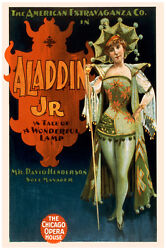 2604.aladin Jr.the Tale Of A Wonderful Lamp Poster.victorian Circus Show Decor