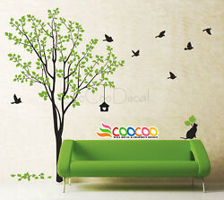 Wall Decor Decal Sticker Removable tree branch birds large 2 colors DC02232 72quot;