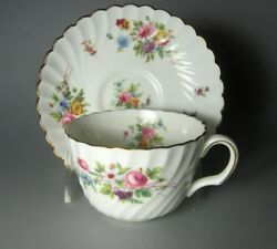 Minton Marlow Set Of 2 Cup And Saucer Sets Globe Backstamp S309