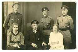 Russian Wwi Officers With St. George Cross Military School Badges Photo