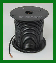 Trailer Light Cable Wiring Harness 14 Gauge 100' Wire Roll Black Camper Trailer