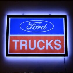 Chevy Bowtie Neon Sign Steel Can Chevrolet 100th Anniversary 60 Dealership