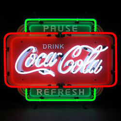 Coca Cola Neon Sign Pause And Refresh