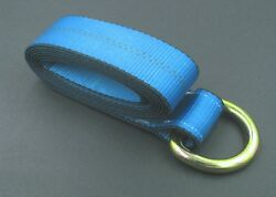24 Blue 8and039 Lasso Straps Wrecker Car Hauler Tow Truck Dolly Wheel Tie Down Strap