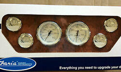 Faria Boat 6 Gauge Set Chesapeake Ss White Instruments Inboards And I/o Far Ktf001