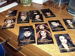 Breaking Dawn Part 2 Sdcc Comic Con Cards.