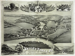 6198.valley Force, Pa.1890 Eyes Bird View Poster.home Wall Art Decorative.