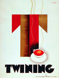 6284.twining Les Belles Affiches 1930 Poster.wall Art French Interior Decorative