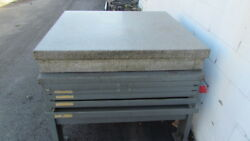 Granite Surface Plate 4and039x4and039 2 Ledge W/stand Y-690