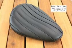 Black Tuck And Roll Rich Phillips Leather Chopper Motorcycle Seat Sportster