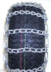 5554 Set Of 2 16x650x8 Snow Thrower Tire Chains 2 Link Spacing