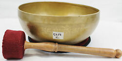 E658 Energetic Root And039cand039 Chakra Healing Tibetan Singing Bowl 9.1 Made In Nepal