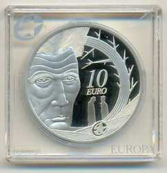 Ireland 100 Years Birthday Of Samuel Backett Silver 10 Euro 2006 Proof