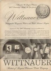 1957 Longines Wittnauer Watch Co. Print Ad 4 Men And Womens Models