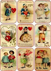Vintage Antique Valentine Small Note Cards Scrapbooking With Envelopes