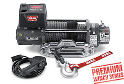 Warn 8000 Lb Premium Series M8000-s Winch Synthetic Rope For Jeep Truck And Suv