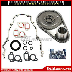 Timing Chain Kit + Cover Gasket For 97-04 Cadillac Chevrolet Gmc 4.8 5.3 6.0 Ohv