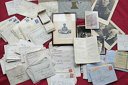 Wwii 70 Letters With Blunt Views-very Rare Archive Not Destroyed By Censorship