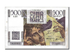 [150481] France 500 Francs 500 F 1945-1953 And039and039chateaubriandand039and039 1946 Km