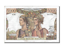 [102252] France 5000 Francs 5 000 F 1949-1957 And039and039terre Et Merand039and039 1949 Km