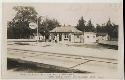 1937 Little Zoo Gas Station Imperial Visible Pumps Simcoe Ontario Rppc