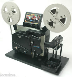 Elmo 16mm Optical Projector Telecine Video Transfer With Ntsc Fullhd Camera