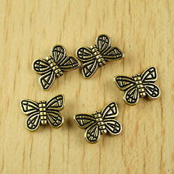 24pcs Dark Gold-tone Butterfly Spacer Beads H1978
