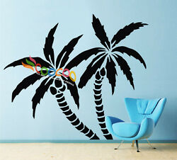 Wall Decor Decal Sticker Removable Palm Trees 72quot;H x 83quot;W single color DC0116