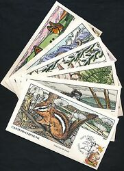 2286-2335 50 Diff North Amer. Wildlife Collins Hand Painted Fdc Cht Hv5548