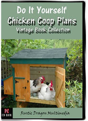 CHICKEN COOP PLANS DIY Low Cost Backyard Poultry Keeping 21 Vintage Books on CD
