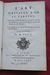 1780 Gold And Silver And 1st Description Potassium.... Metals Assaying- 1st Edition