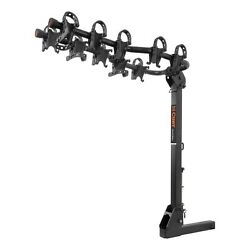Curt 18065 Premium Hitch Mounted Bike Rack W/ Tapered Arms For Up To 5 Bikes