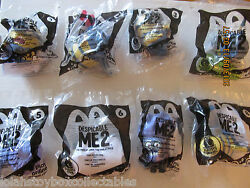 Minion 2013 Despicable Me 2 Movie Mcdonalds Set 1-8 Talking Toys Hard To Find