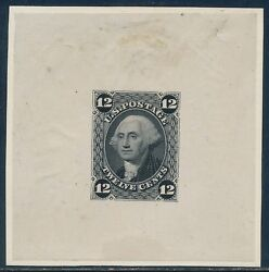 69-e4a Die Essay On India Paper Card Mounted - Black Hv6568