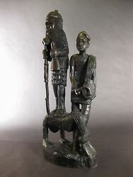 Terrific Abstract Oba And Entertainers Group Statue Nigeria