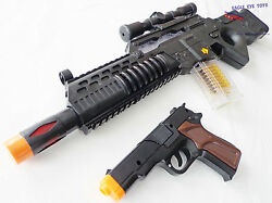 military soldier huge toy rifle machine