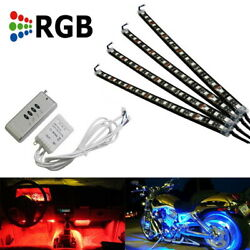 4 X 12 7 Color Rgb Led Knight Rider Ground Effect Light Kit For Motorcycle Bike