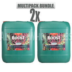Canna Boost 10 Liter 2 Pack Hydroponic Nutrient Bloom Enhancer Accelerator 20L
