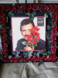 Framed Autographed Ringo Starr Album Cover Excellent Collectable Condition